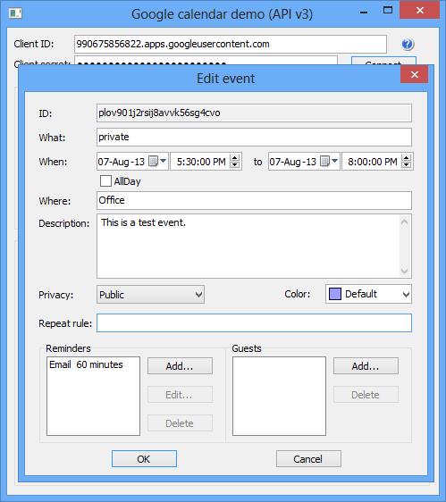 Astonsoft Google Calendar Delphi Component v3.5 D7-D10.3 Rio